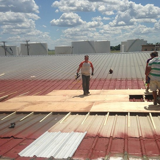 commercial metal roof installation