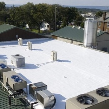 TPO Installed on a Roof.